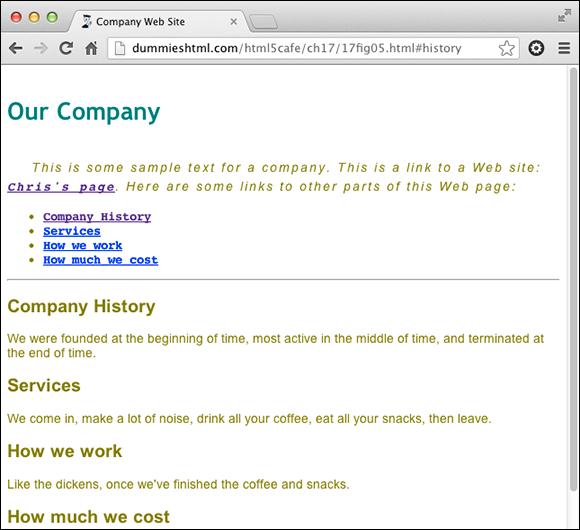 best company history pages