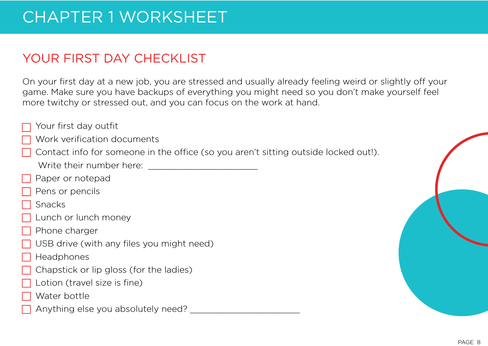 Chapter 1 Worksheet - Being New at Work: A Guide for Mastering the ...