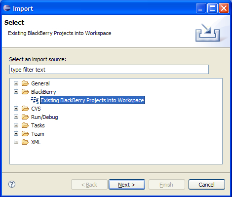 Time for action - importing the HelloWorldDemo sample application