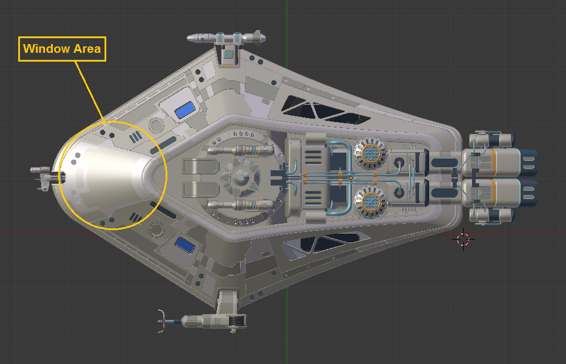 Adding the cockpit - Blender 3D Incredible Machines [Book]