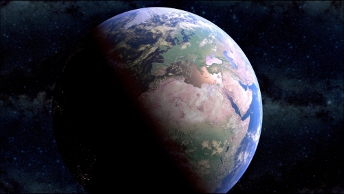 Creating a realistic Earth as seen from space