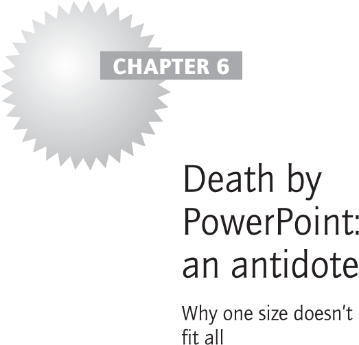 Death by PowerPoint: an antidote