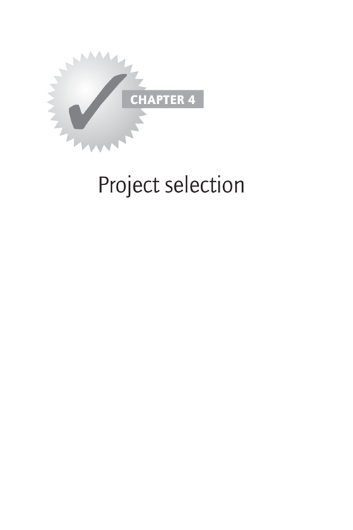 CHAPTER 4: Project selection