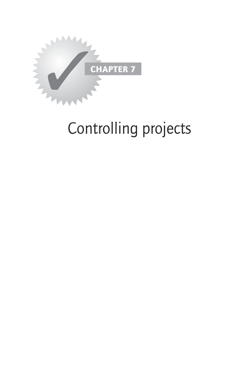 CHAPTER 7: Controlling projects