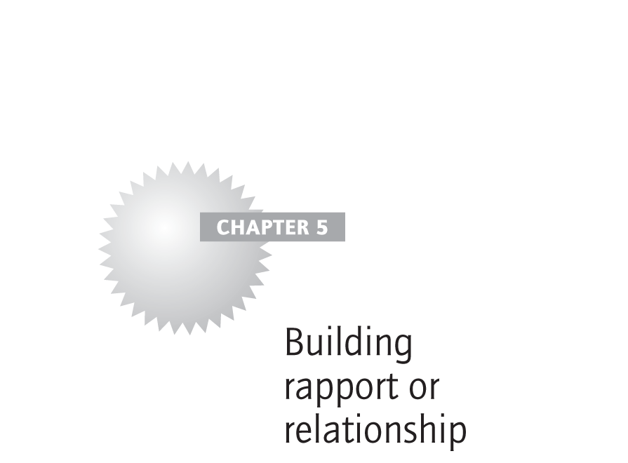 Building rapport or relationship
