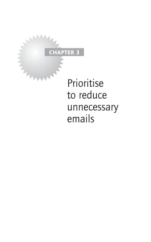 Prioritise to reduce unnecessary emails