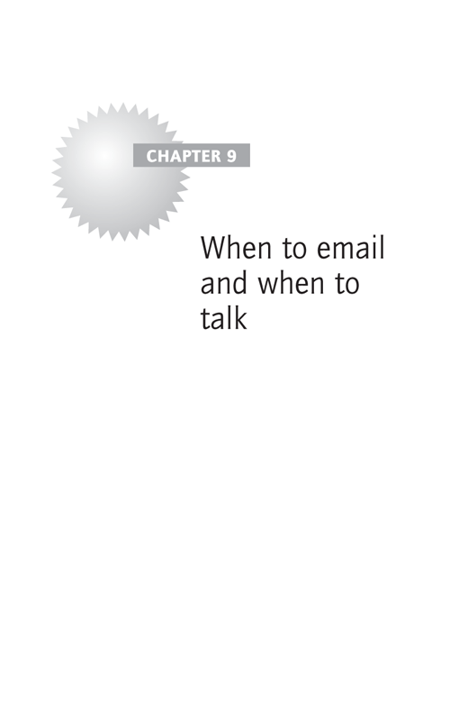 When to email and when to talk