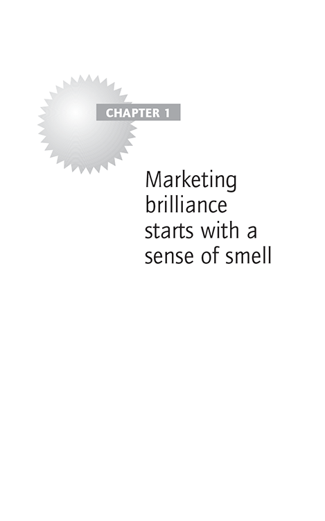 Chapter 1 Marketing brilliance starts with a sense of smell