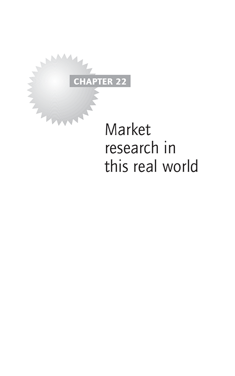 Chapter 22 Market research in this real world