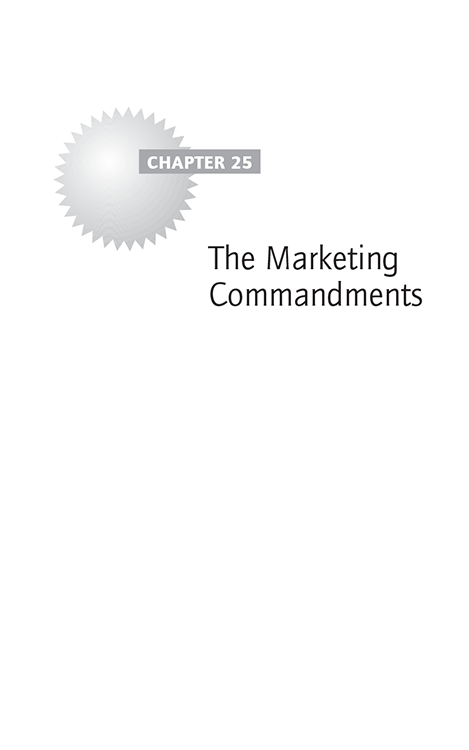 Chapter 25 The Marketing Commandments