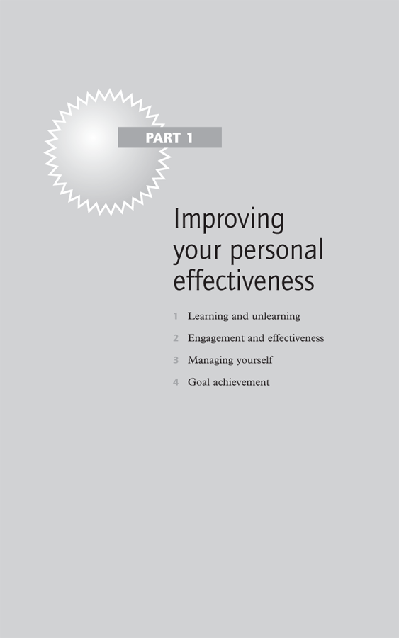 Part 1 Improving your personal effectiveness - Brilliant