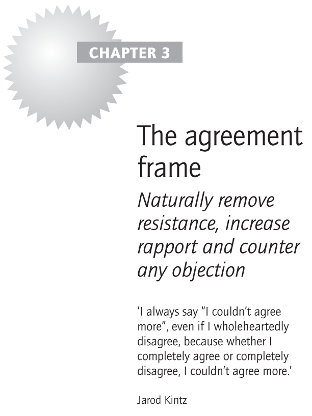 The agreement frame
