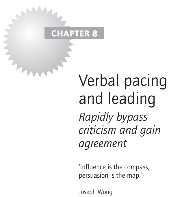 Verbal pacing and leading