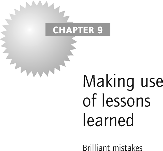 Making use of lessons learned