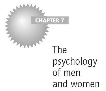 The psychology of men and women