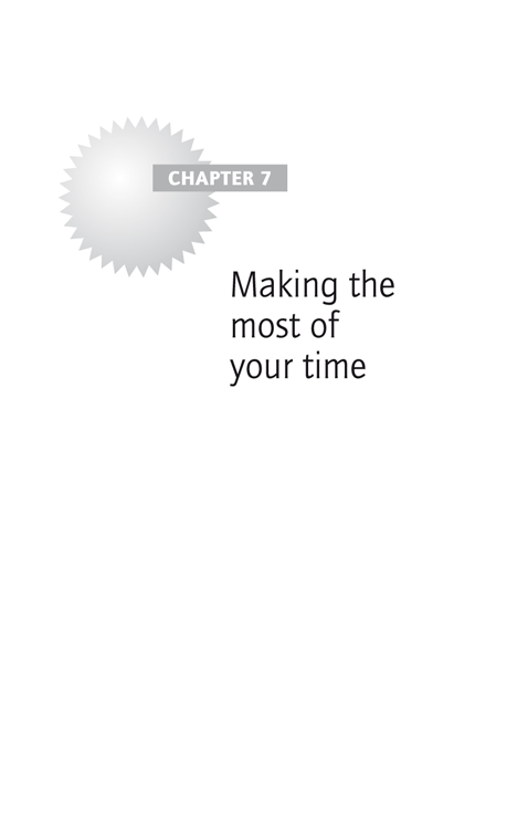 Chapter 7: Making the most of your time