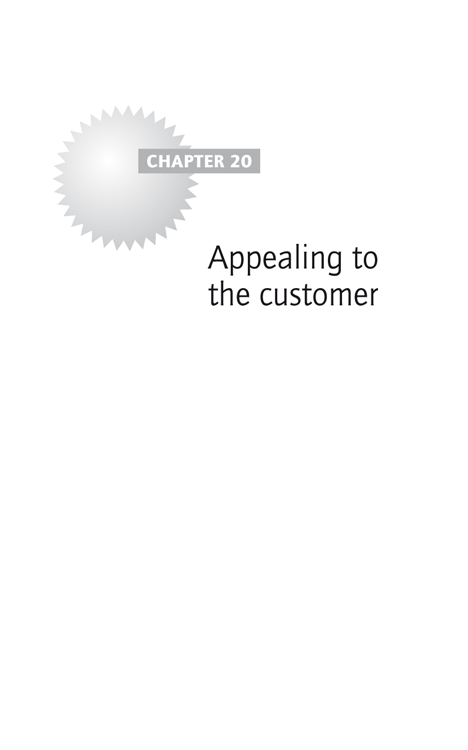 Chapter 20: Appealing to the customer