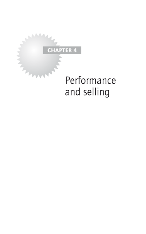 Chapter 4: Performance and selling