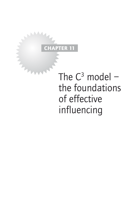 Chapter 11: The C3 model – the foundations of effective influencing