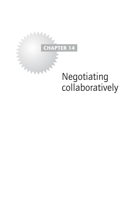 Chapter 14: Negotiating collaboratively