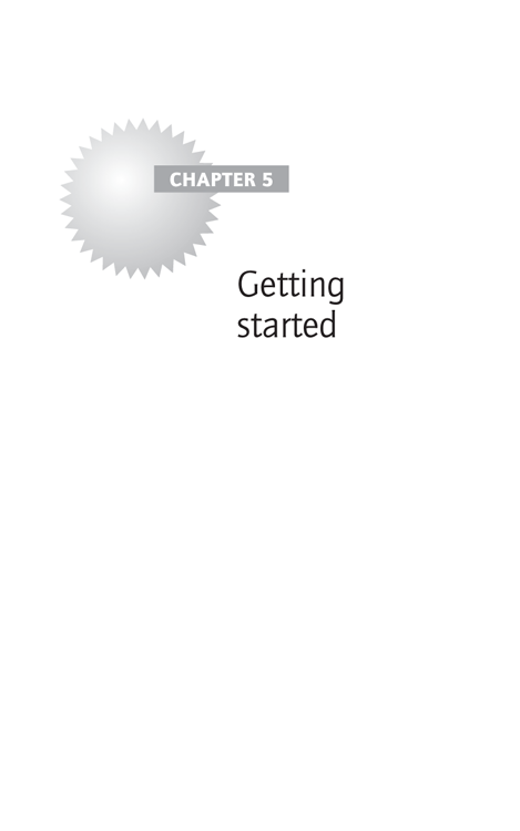 Chapter 5 Getting started