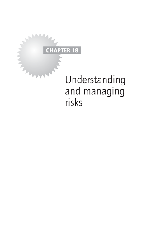 Chapter 18 Understanding and managing risks
