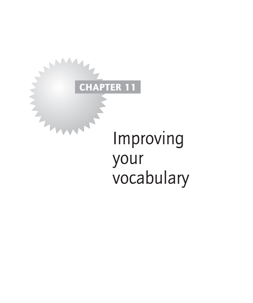 Improving your vocabulary