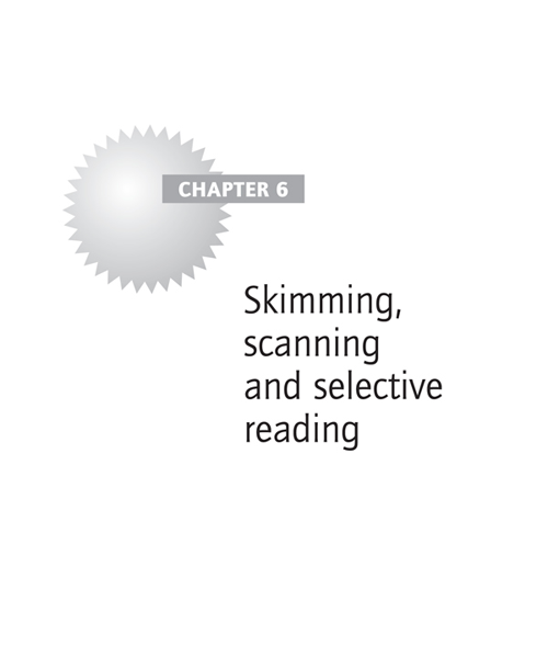 Skimming, scanning and selective reading