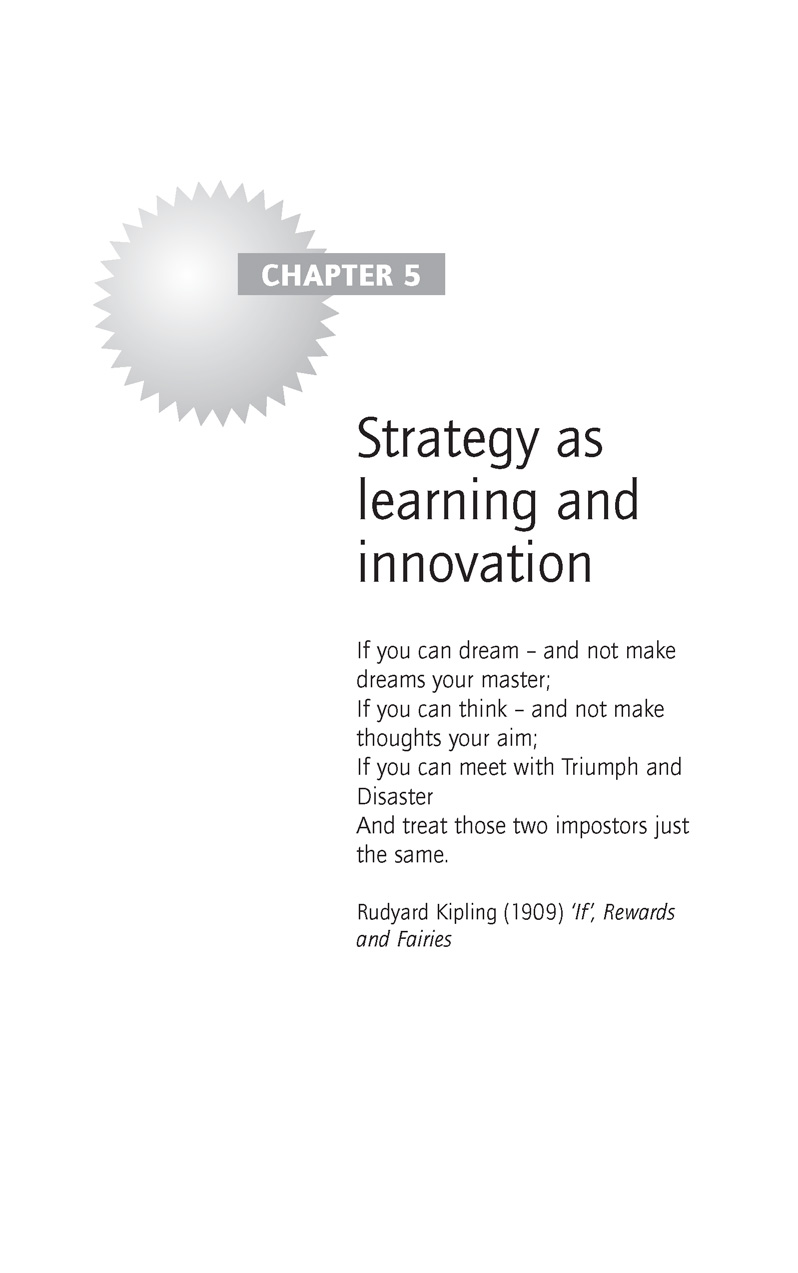 Strategy as Learning and Innovation
