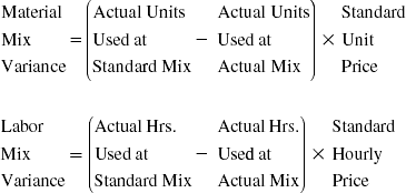 Mix and Yield Variances for Material and Labor - Budgeting Basics