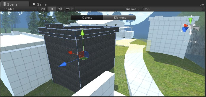 Working with ProBuilder – placing materials - Building an