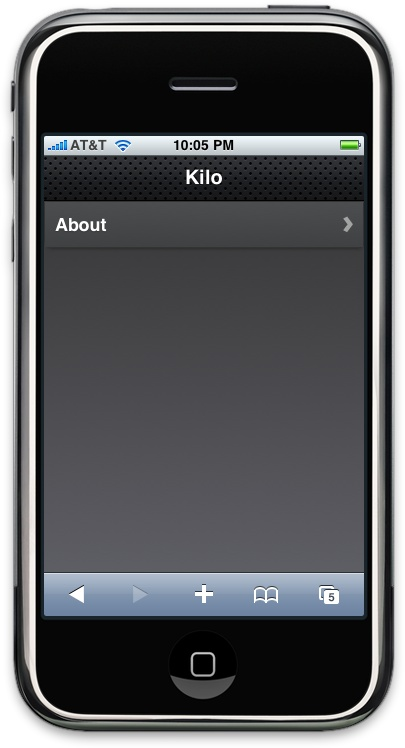 ...and Kilo after jQTouch