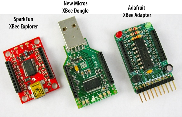 XBee adapters are available from many vendors in a variety of different formats