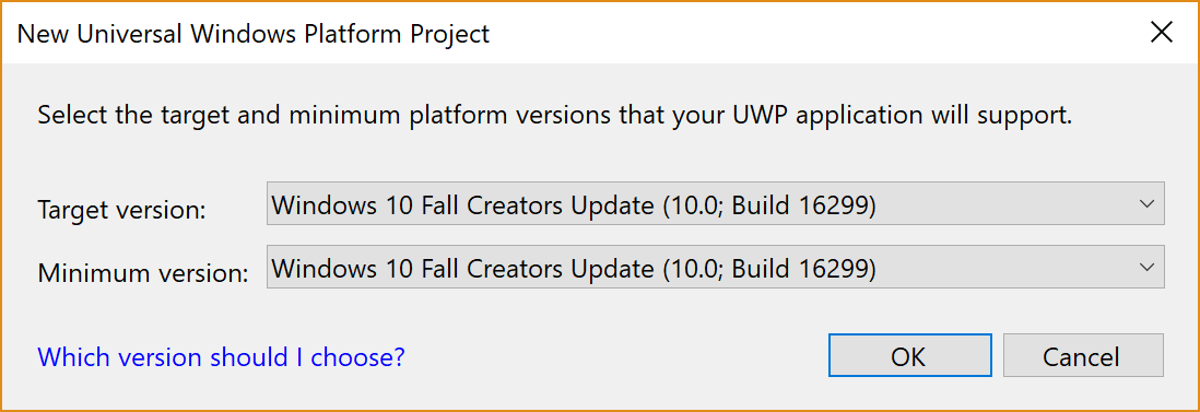 Creating a UWP project - C# 7 1 and  NET Core 2 0 – Modern Cross