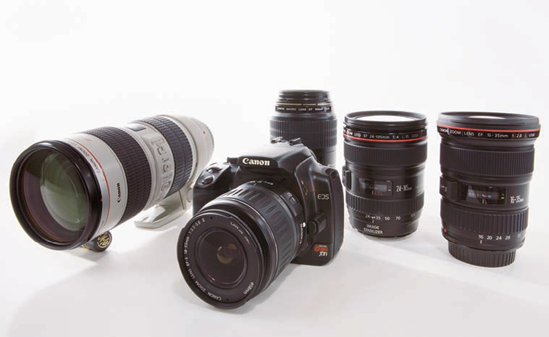 Having a selection of lenses increases your creative options with the Digital Rebel XTi/400D.
