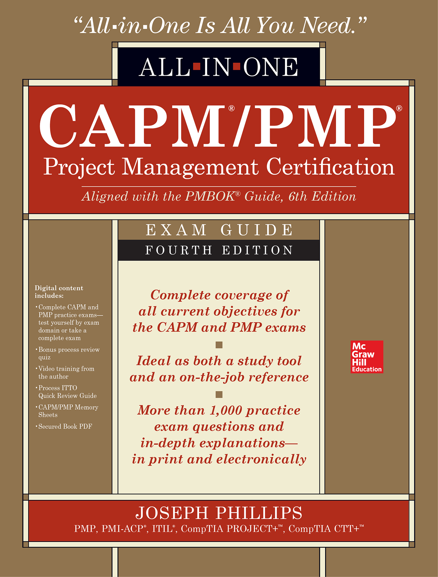 Cover Capmpmp Project Management Certification All In One Exam