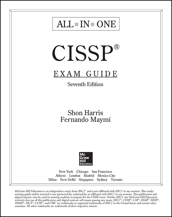 Title Page Cissp All In One Exam Guide Seventh Edition 7th