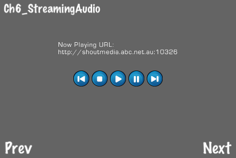 Streaming audio