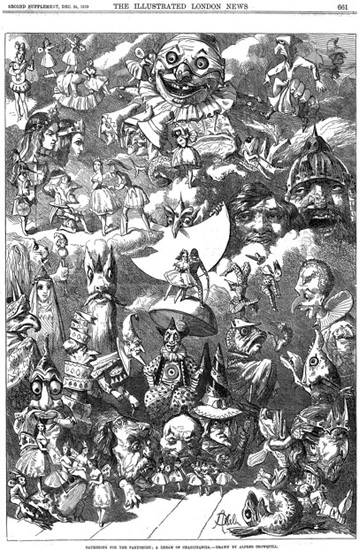 Figure 3.1 Illustration of Pantomime by Alfred Henry Forrester, aka Alfred Crowquill