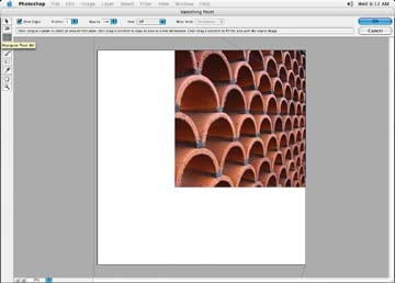 Select the Marquee tool and grab a section of brick image