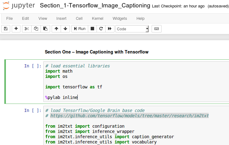 Running the captioning code on Jupyter - Computer Vision Projects