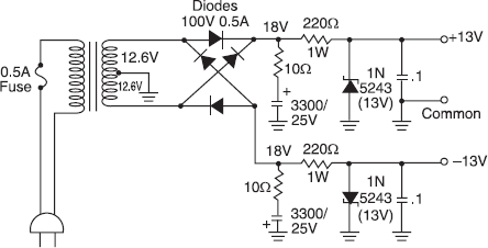 Power Supply Circuits for Stereo Amplifiers - Consumer