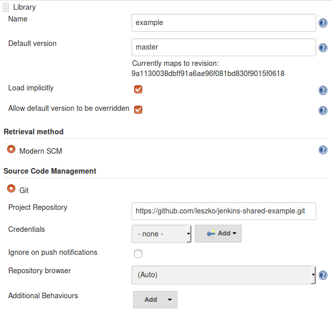 Configure the shared library in Jenkins - Continuous