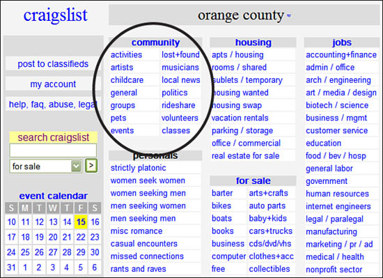 6 Listing in the Community - craigslist 4 Everyone [Book]