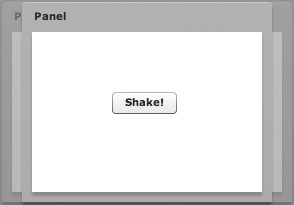 Panel with a shake motion