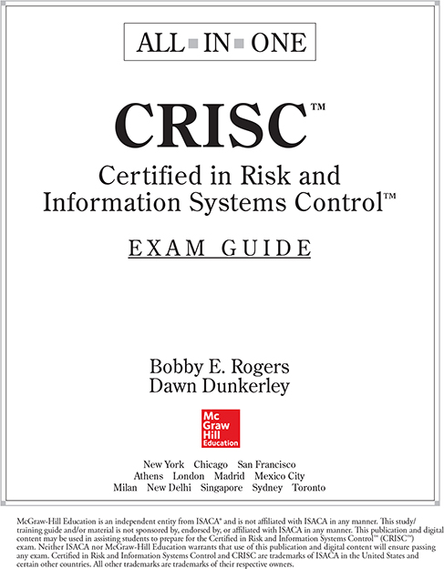 Title Page - CRISC Certified in Risk and Information Systems Control ...