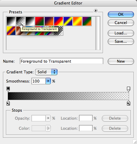 Selecting the right gradient fade