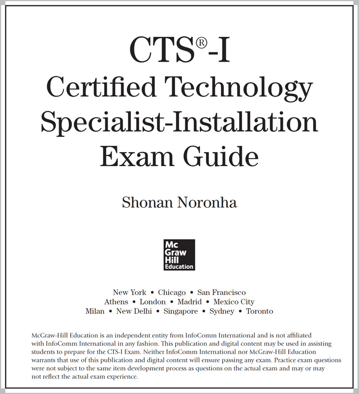 Title Page - CTS-I Certified Technology Specialist-Installation Exam