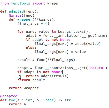 Annotations As Input To Function Decorators Daniel Arbuckle S