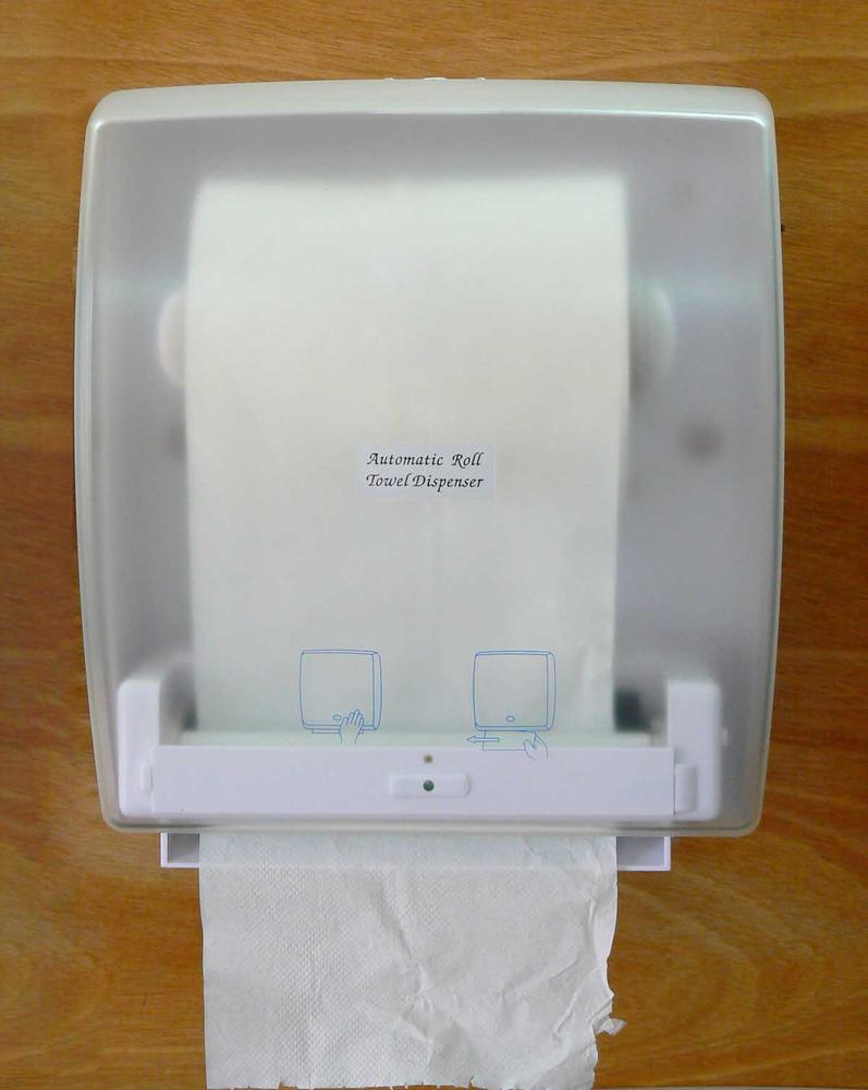 Without the tiny diagrams on the dispenser, there would be no affordances to let you know how to get the toilet paper out. Gestural interfaces need to be discoverable so that they can be used. Courtesy Yu Wei Products Company.